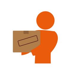 courier with delivery vector image vector image