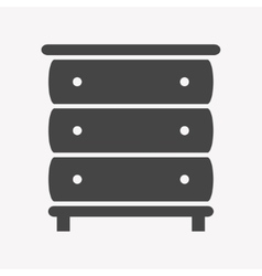 Cupboard icon Trendy Simple vector image vector image