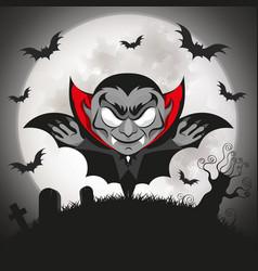 dracula vampire halloween vector image vector image