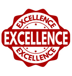 excellence grunge rubber stamp vector image
