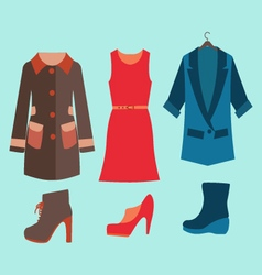 Fashion collection of spring and autumn woman vector