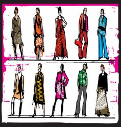 fashion illustration vector image vector image
