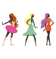 fashion look girl silhouette beautiful girl woman vector image