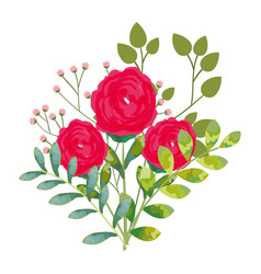 Floral water color decoration vector