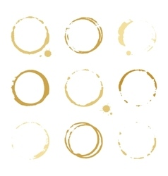 Gold round stains and blots vector