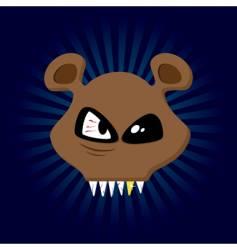 happy bear vector image