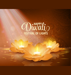 happy diwali  festival of light background vector image