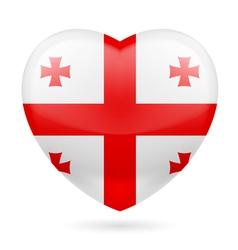 Heart icon of georgia vector