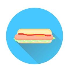 Hot dog flat vector