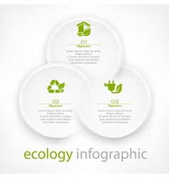 Infographic round elements vector image