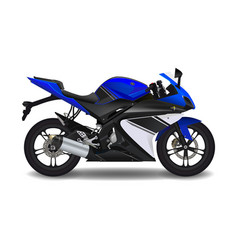 Motorcycle blue sport bike vector