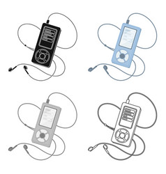 Mp3 player for listening to music during a workout vector
