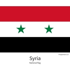 National flag of syria with correct proportions vector