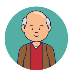 Old man ethnicity avatar character vector