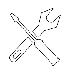 pictogram support repair tools sign icon vector image vector image