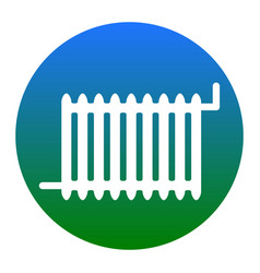 radiator sign white icon in bluish circle vector image