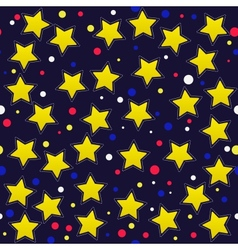 seamless pattern with cartoon stars vector image