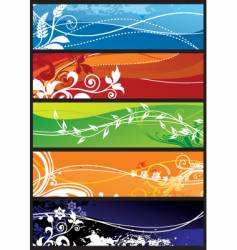 seasons background vector image