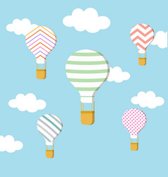 set of air balloons vector image