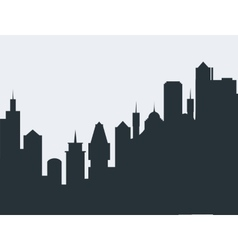 Set of cityscape background vector image