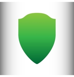 Shield sign green gradient icon vector