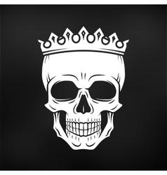 Skull king crown design element vintage royal vector
