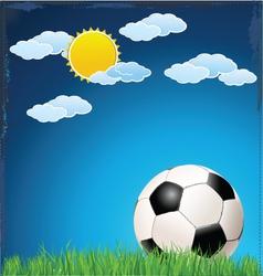 Soccer blue background vector image