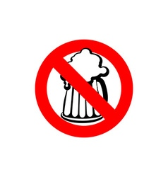 Stop beer Forbidden alcohol Frozen silhouette mugs vector image
