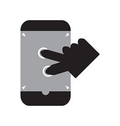 Zoom in smart phone vector