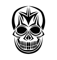 Skull tattoo face design vector