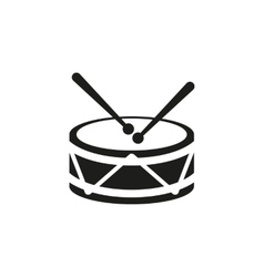 Drum icon design music and toy symbol web vector