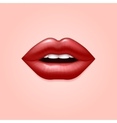 Glamour red woman seductive sexual lips 3d vector