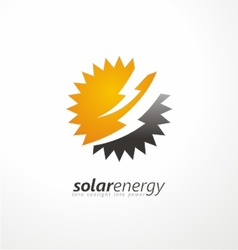 Solar energy logo design idea vector image