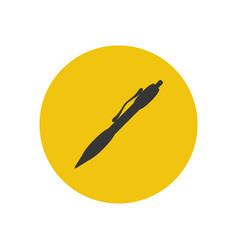 Mechanical pen silhouette vector