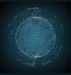 abstract sphere of particles points vector image