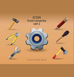 Instruments icon set vector