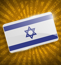 Flag of israe with old texture vector