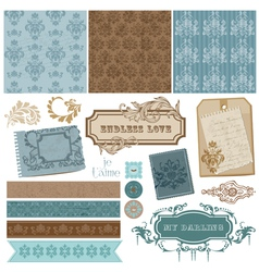 vintage ornamental elements vector image