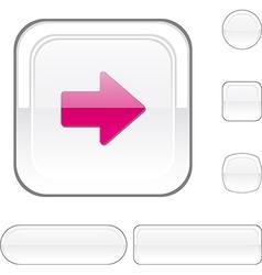 Arrow white button vector