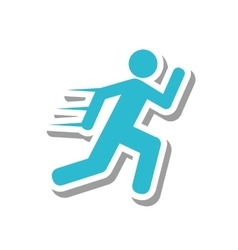 Athlete running silhouette isolated icon vector