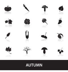 autumn icons set eps10 vector image