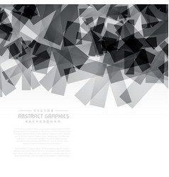 Black abstract shapes background vector