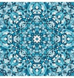 blue circular kaleidoscope pattern vector image