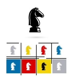 Chess knight icon vector image