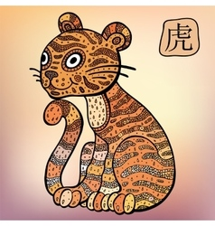 Chinese Zodiac Animal astrological sign Tiger vector image vector image