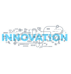 creative of innovation word vector image
