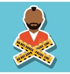 Criminal icon design vector