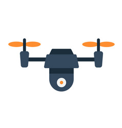Drone flat icon fly and copter vector