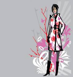 fashion model illustration vector image vector image