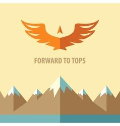 Forward to topsTourism mountain climbing vector image vector image